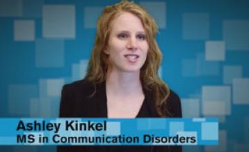 ASU student Ashley Kinkel talks about the Department of Speech and Hearing Science